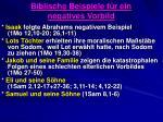 biblische beispiele f r ein negatives vorbild