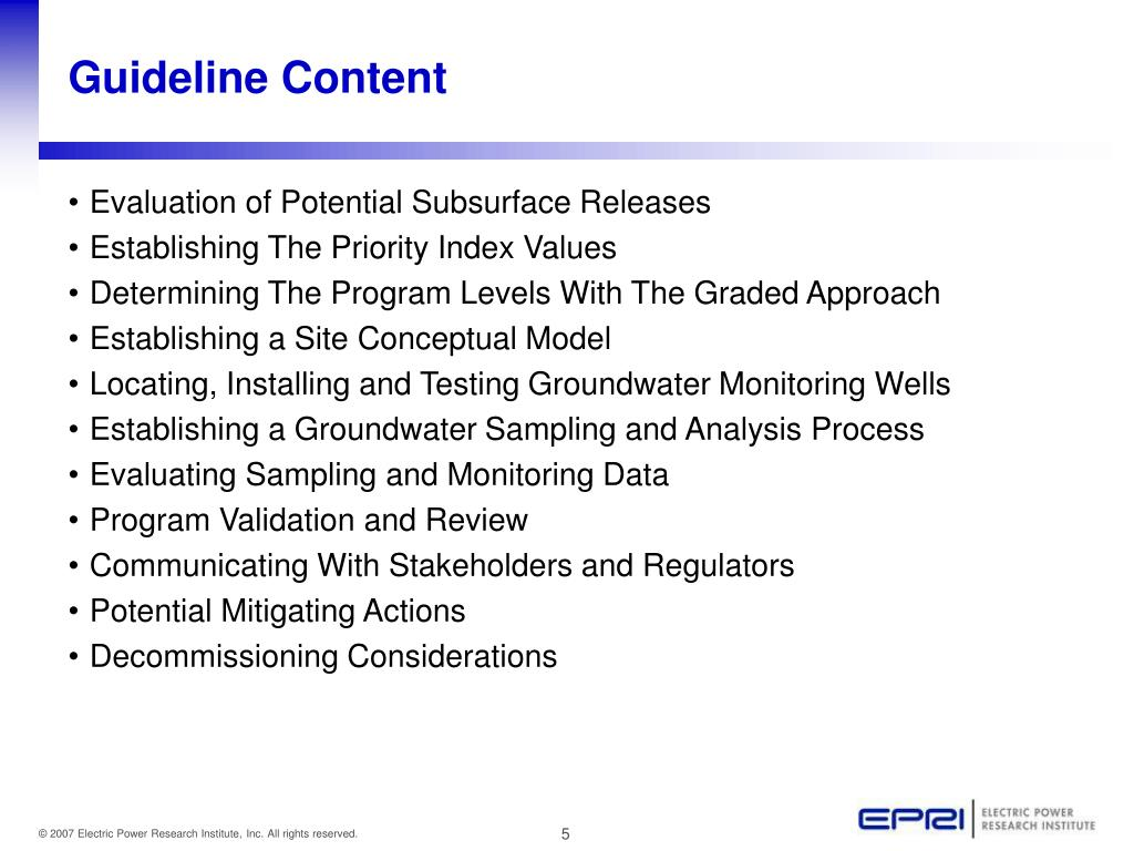 Guideline Content