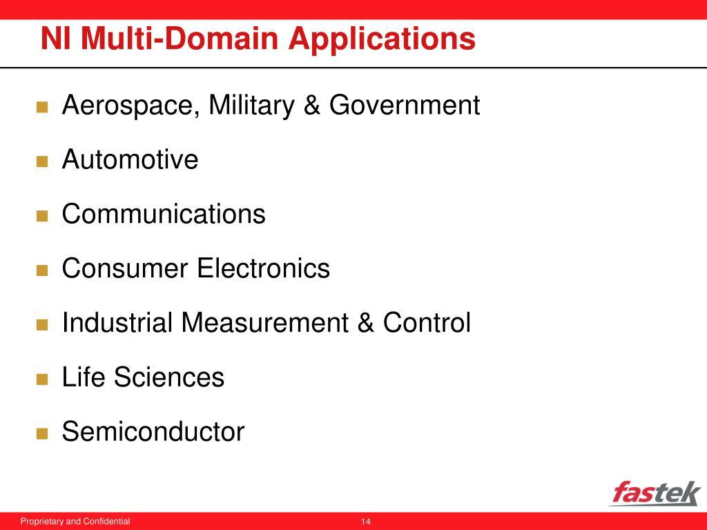 NI Multi-Domain Applications