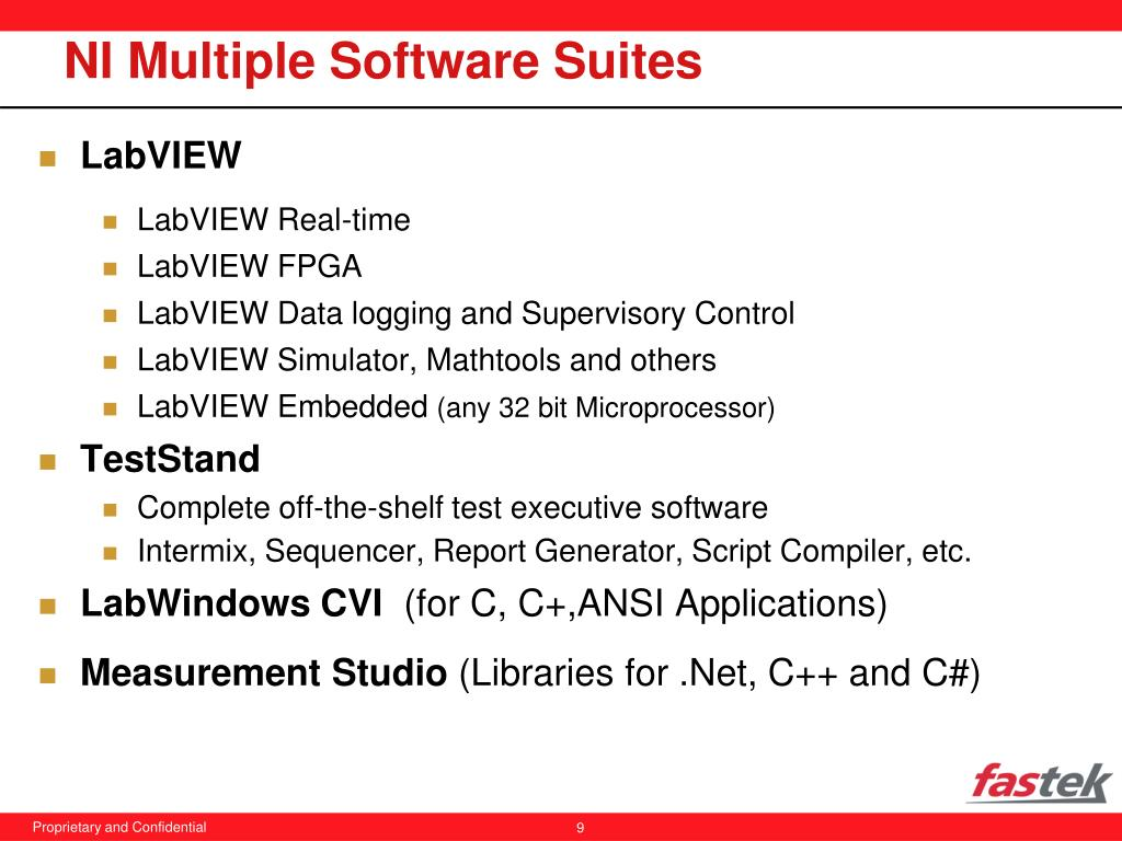NI Multiple Software Suites