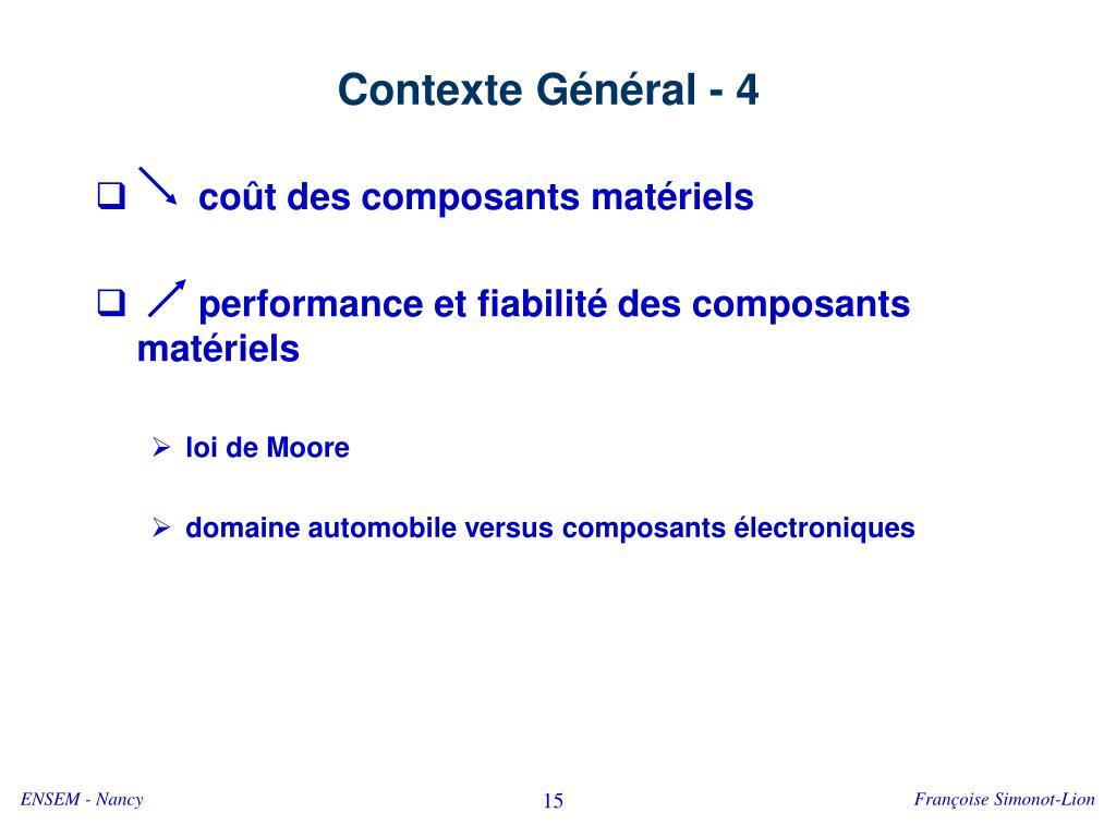 Contexte Général - 4