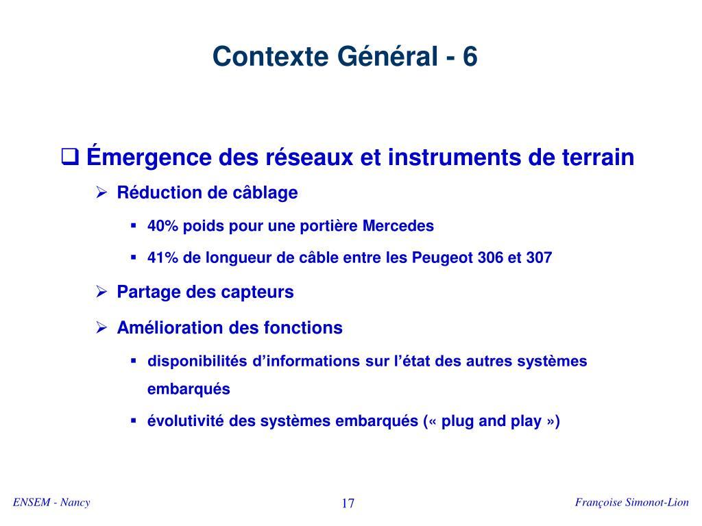 Contexte Général - 6