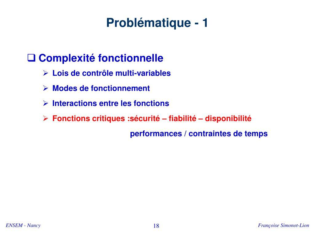 Problématique - 1