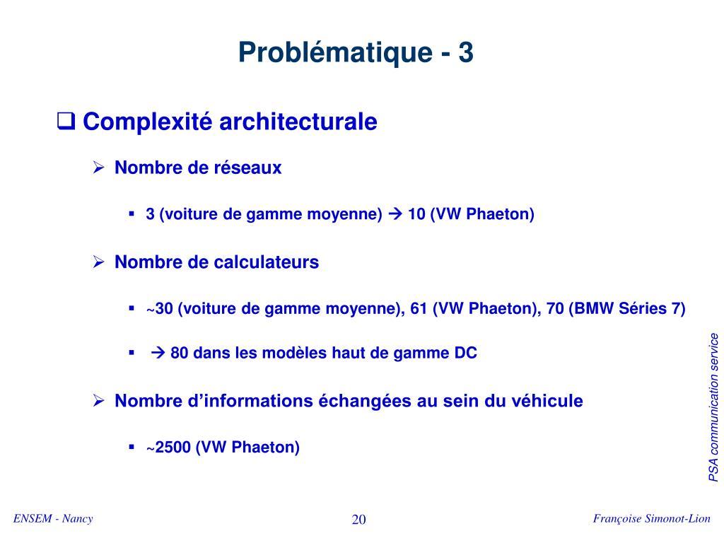 Problématique - 3