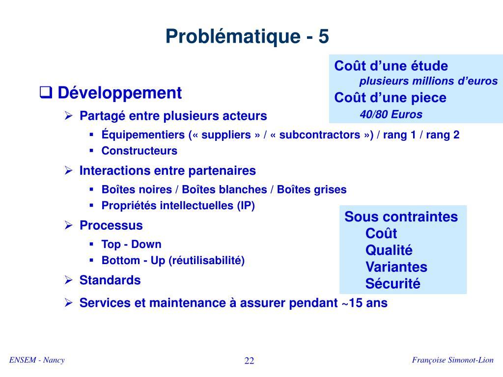 Problématique - 5