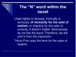 the n word within the novel10