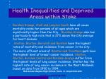 health inequalities and deprived areas within stoke