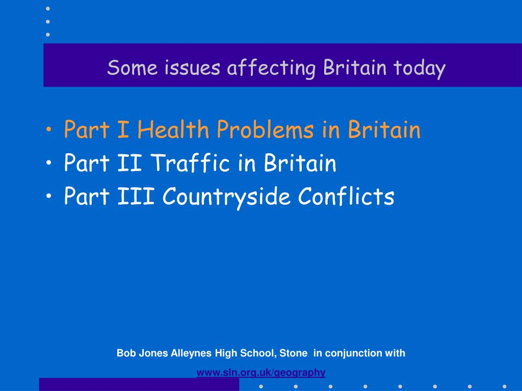 some issues affecting britain today
