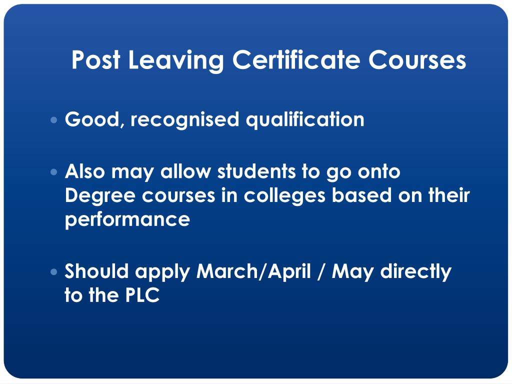 Post Leaving Certificate Courses
