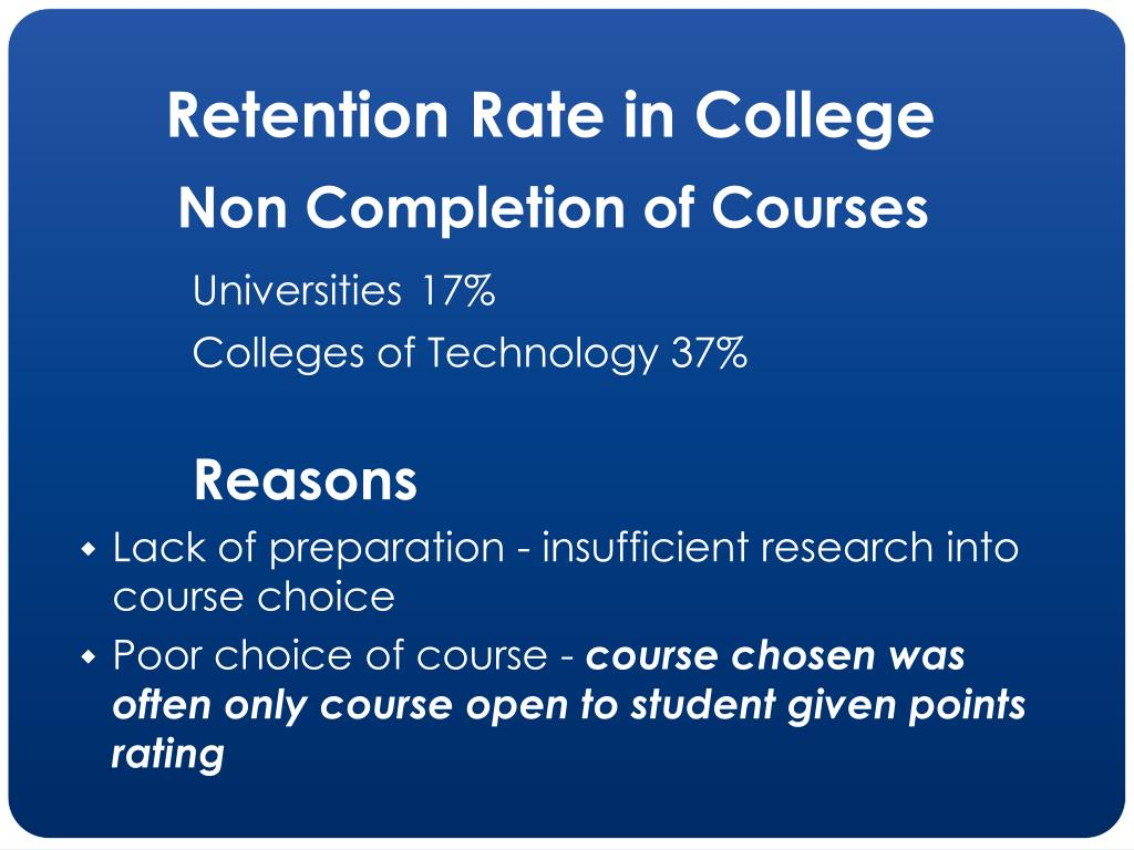 Retention Rate in College