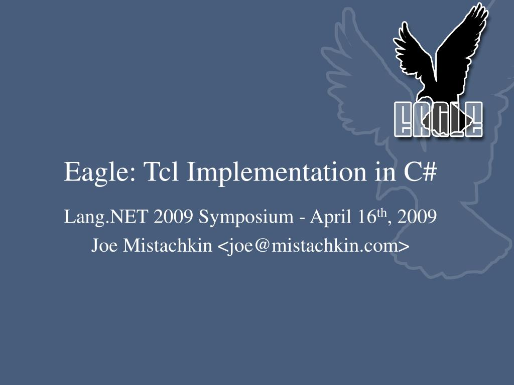 eagle tcl implementation in c