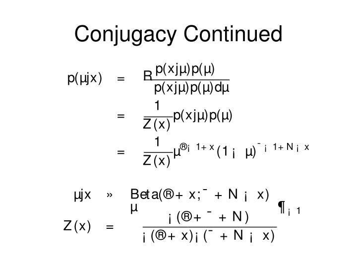 Conjugacy Continued