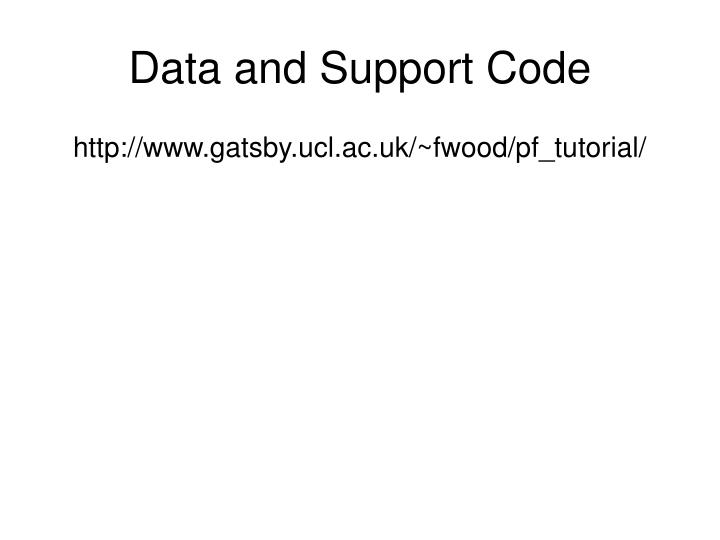 Data and Support Code