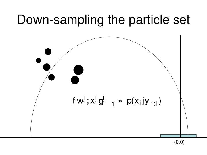 Down-sampling the particle set