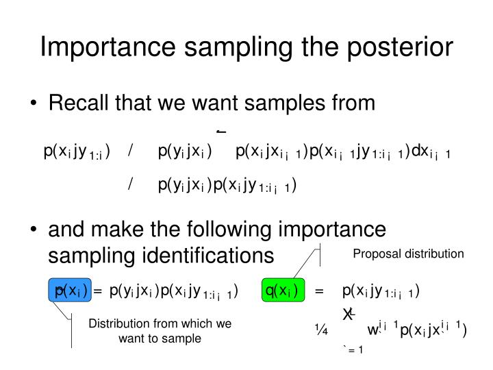 Importance sampling the posterior