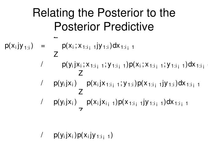 Relating the Posterior to the Posterior Predictive