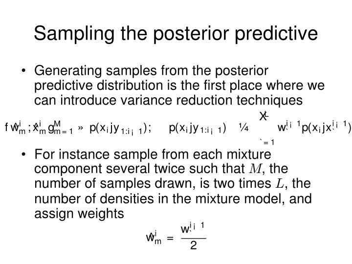 Sampling the posterior predictive