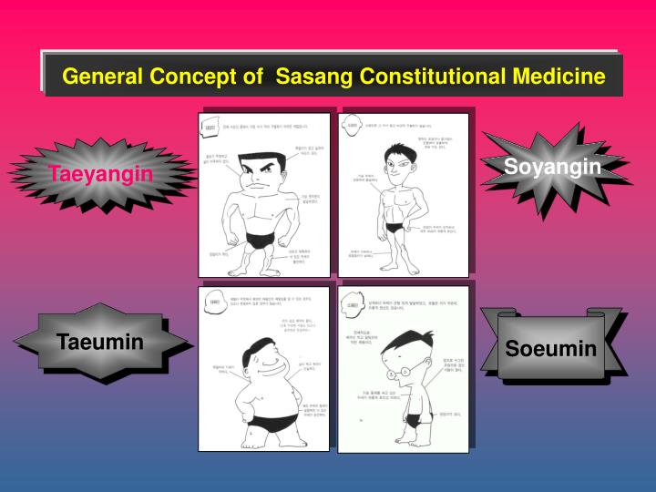 General Concept of  Sasang Constitutional Medicine