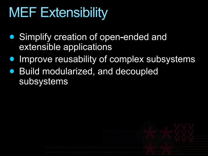 MEF Extensibility