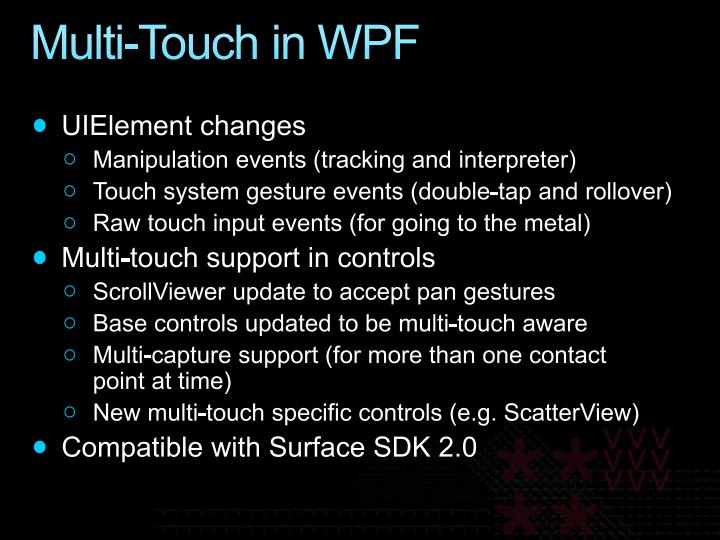 Multi-Touch in WPF