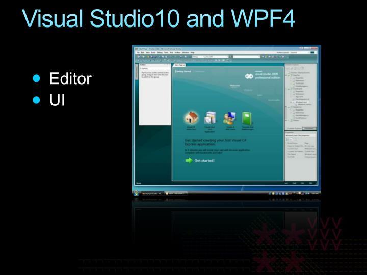 Visual Studio10 and WPF4