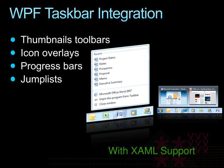 WPF Taskbar Integration