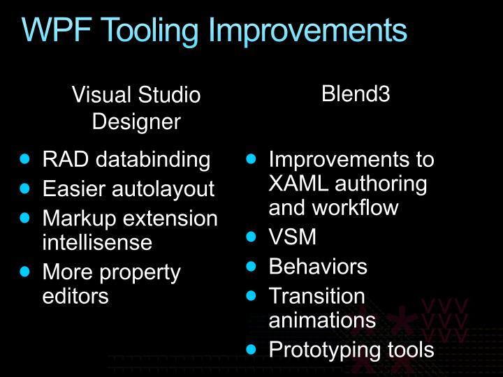 WPF Tooling Improvements