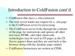introduction to coldfusion cont d2