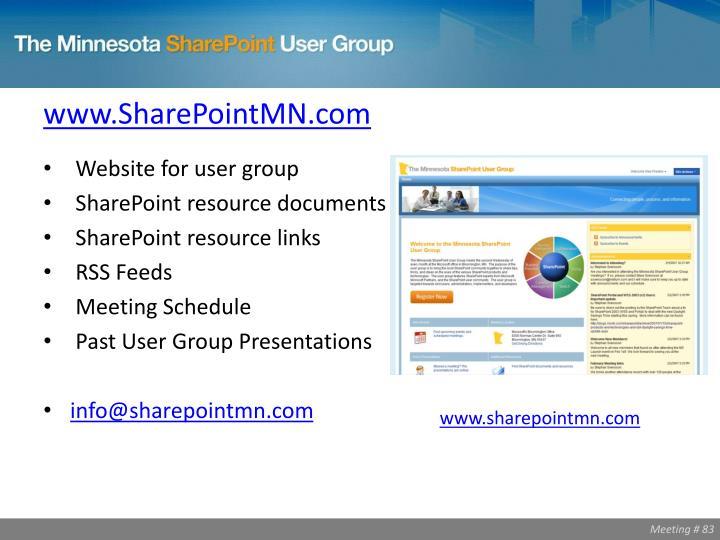 www.SharePointMN.com