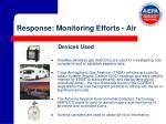 response monitoring efforts air14