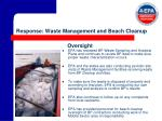 response waste management and beach cleanup