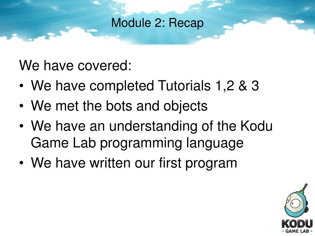 PPT - Game Design with Kodu Game Lab PowerPoint Presentation - ID:553664