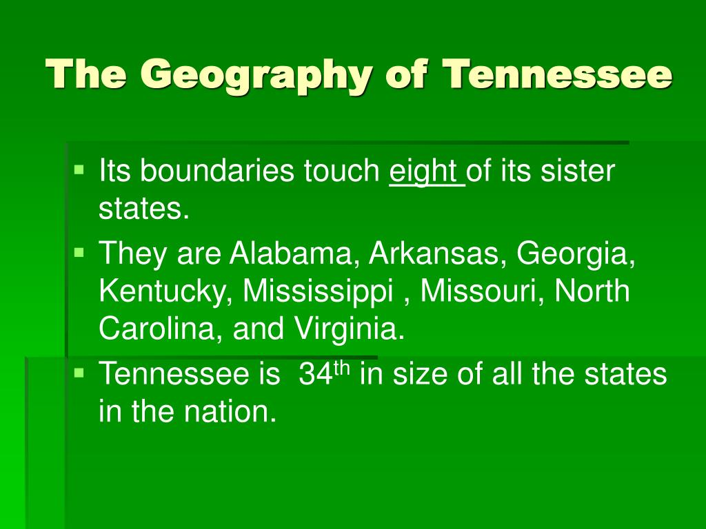 The Geography of Tennessee