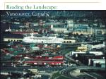 reading the landscape vancouver canada
