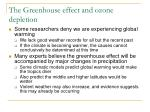 the greenhouse effect and ozone depletion4