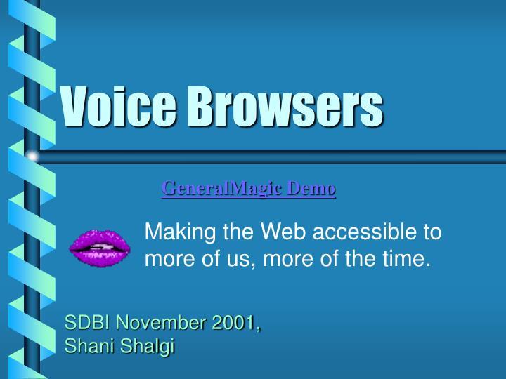 voice browsers n.