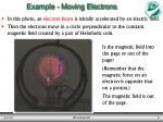 example moving electrons