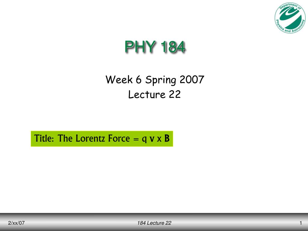 phy 184 l.
