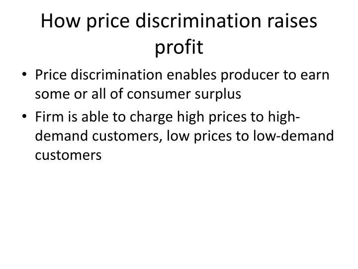 How price discrimination raises profit