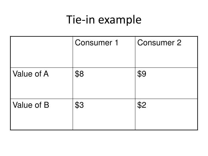 Tie-in example