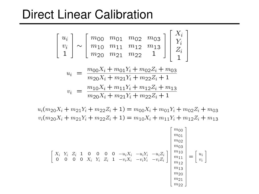 Direct Linear Calibration