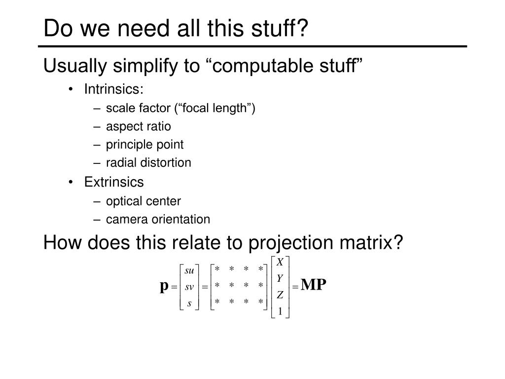 How does this relate to projection matrix?
