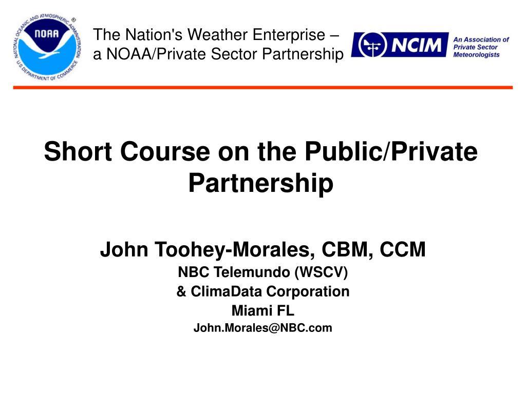 short course on the public private partnership l.