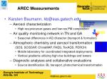 arec measurements