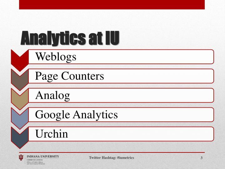 Analytics at iu