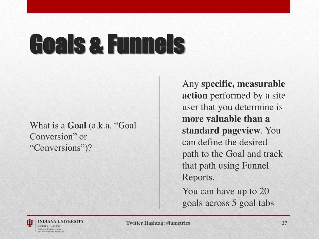 Goals & Funnels