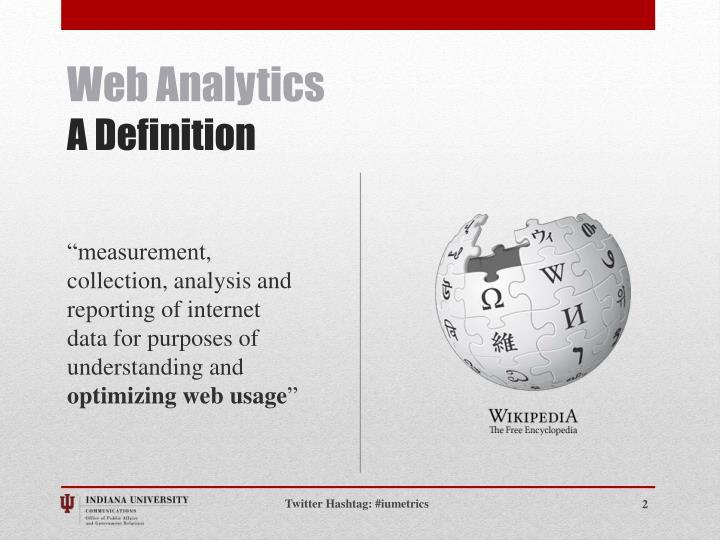 Web analytics a definition