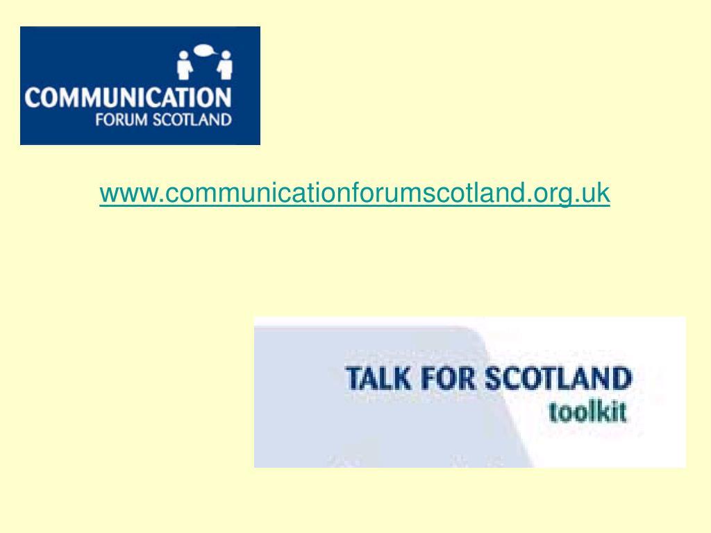 www.communicationforumscotland.org.uk