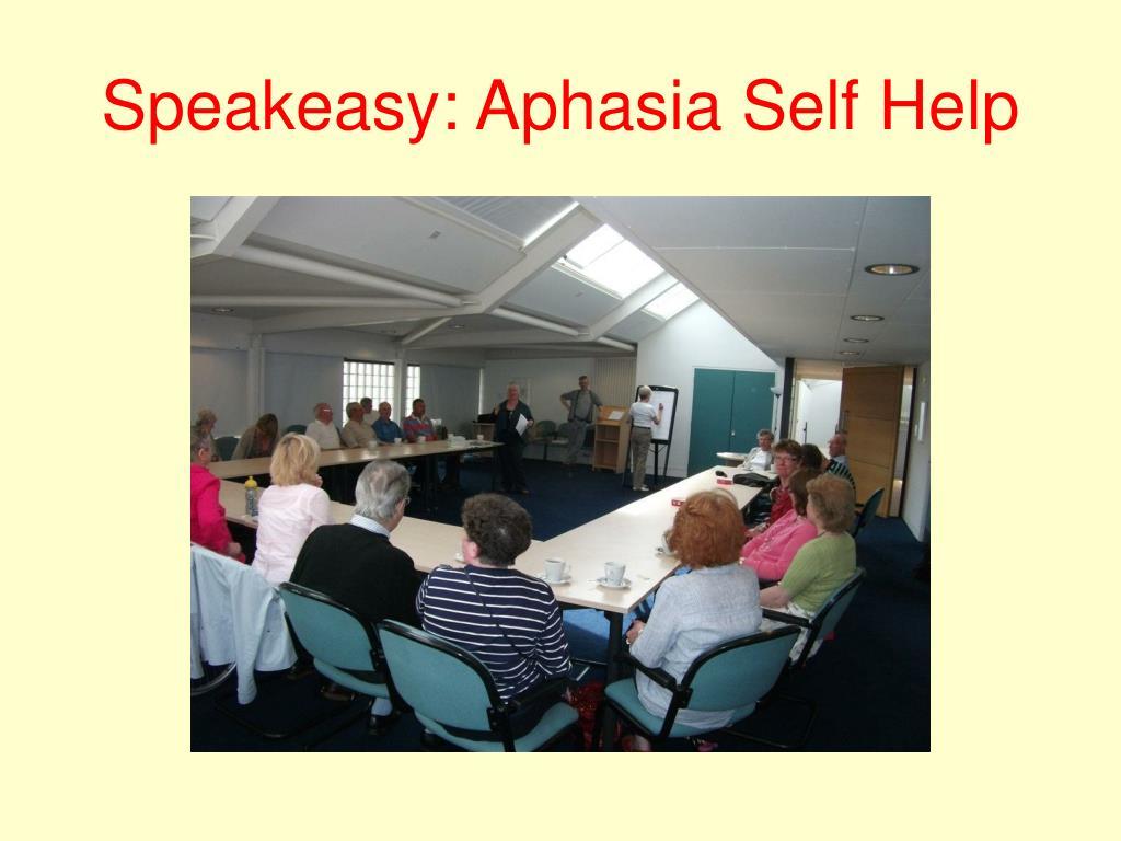 Speakeasy: Aphasia Self Help