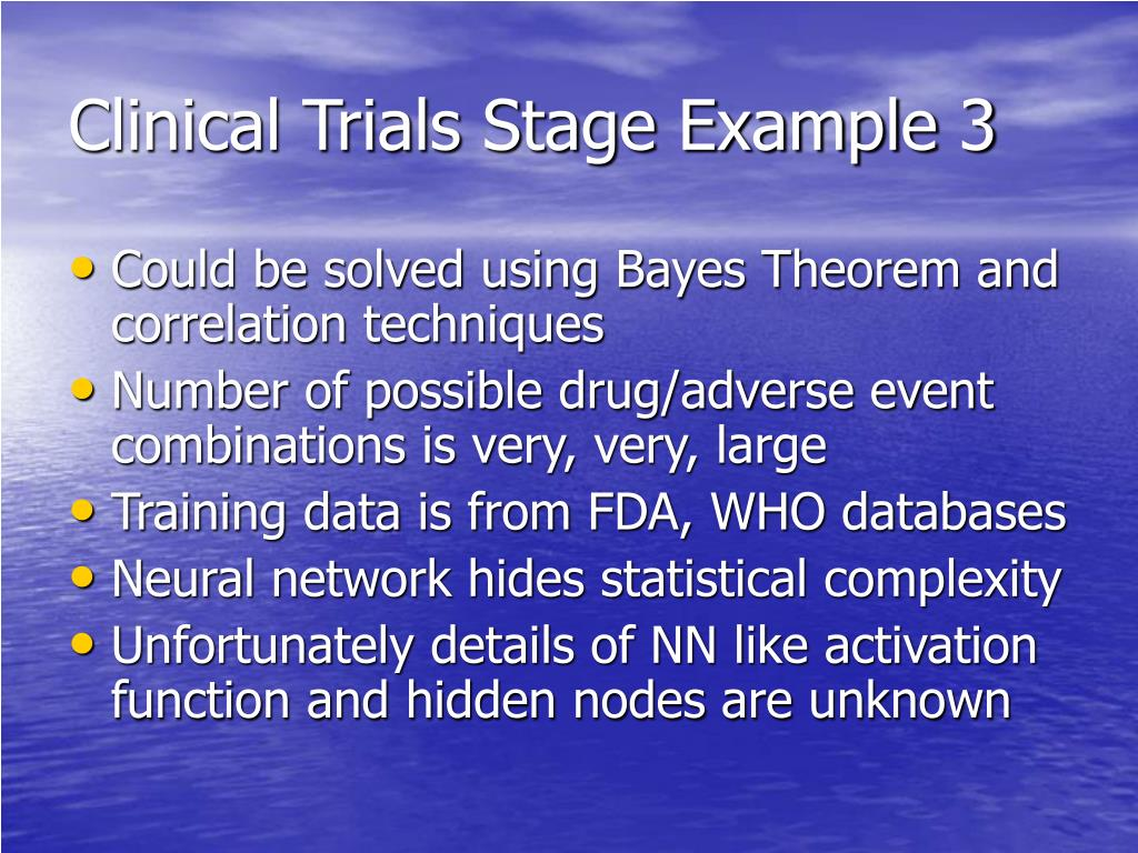 Clinical Trials Stage Example 3
